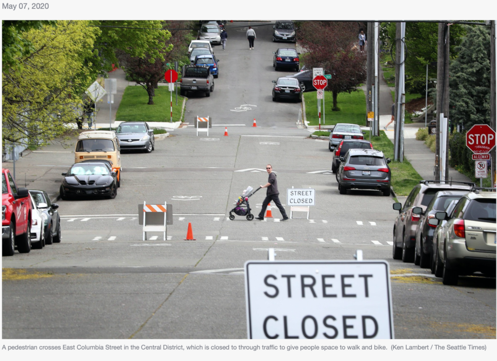 Seattle will permanently close 20 miles of residential streets to most vehicle traffic.
